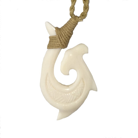 Hook Tribe Hammerhead Bone Necklace - Hook Tribe