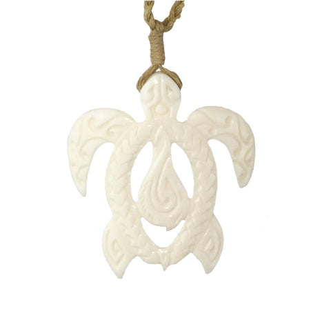 Hook Tribe Honu Legends Bone Necklace 40mm - Hook Tribe