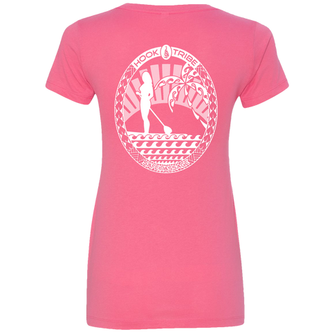 Women's SUP V-Neck Tee - Hook Tribe