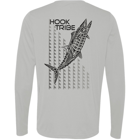 Men's Kingfish Wave L/S Performance T-Shirt - Hook Tribe