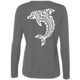 The Leaping Dolphin L/S Performance Tee - Hook Tribe
