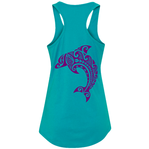 Women's Leaping Dolphin Tank Top - Hook Tribe