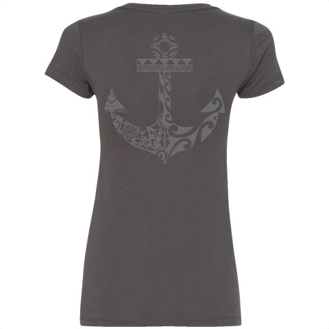 Women's Anchors Away V-Neck Tee - Hook Tribe