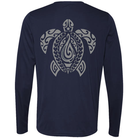 Men's Honu Legend L/S Performance T-Shirt - Hook Tribe