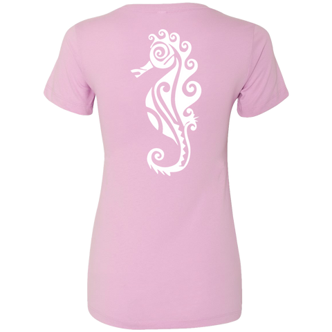 Sea Horse V-Neck Tee - Hook Tribe
