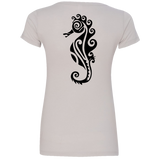 Women's Sea Horse V-Neck Tee - Hook Tribe