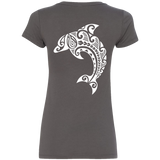 Women's Leaping Dolphin V-Neck Tee - Hook Tribe