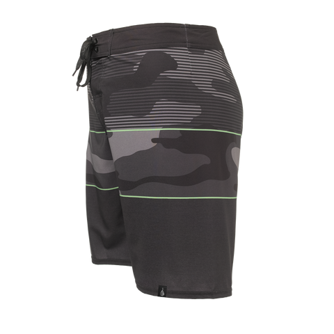 Men's Black North Shore Boardshort - Hook Tribe