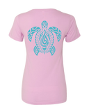 Women's Honu V-Neck Tee - Hook Tribe