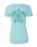 Lady Honu V-Neck Tee - Hook Tribe