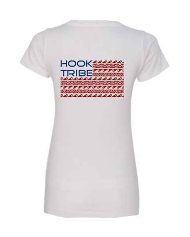 Women's Hook Tribe Nation V-Neck Tee - Hook Tribe