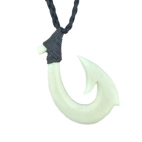 Hei Matau Bone Hook Safe Passage Necklace - Hook Tribe