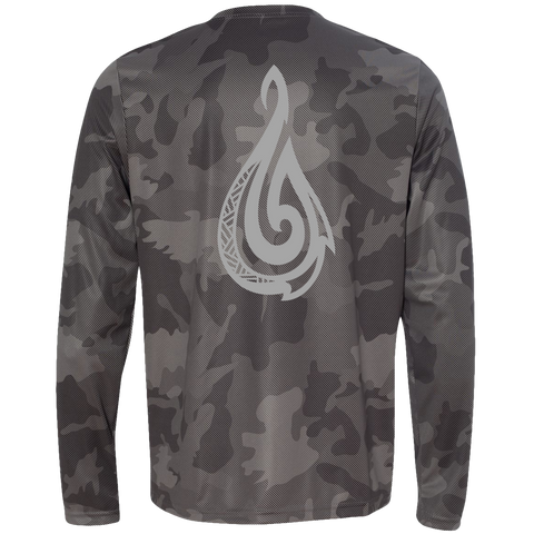 Men's Jungle Camo Hook L/S Performance T-Shirt