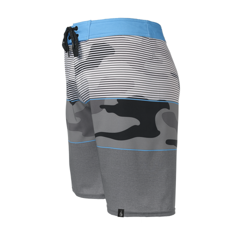 Men's Grey North Shore Boardshort - Hook Tribe