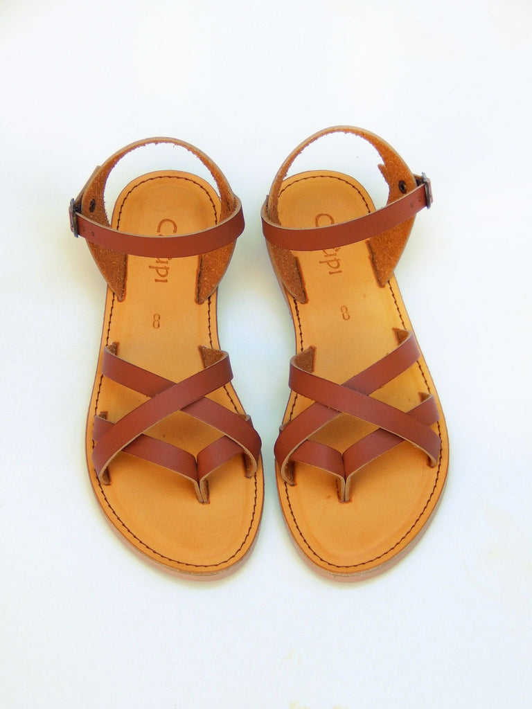 Calupi Druzy Sandal Brown