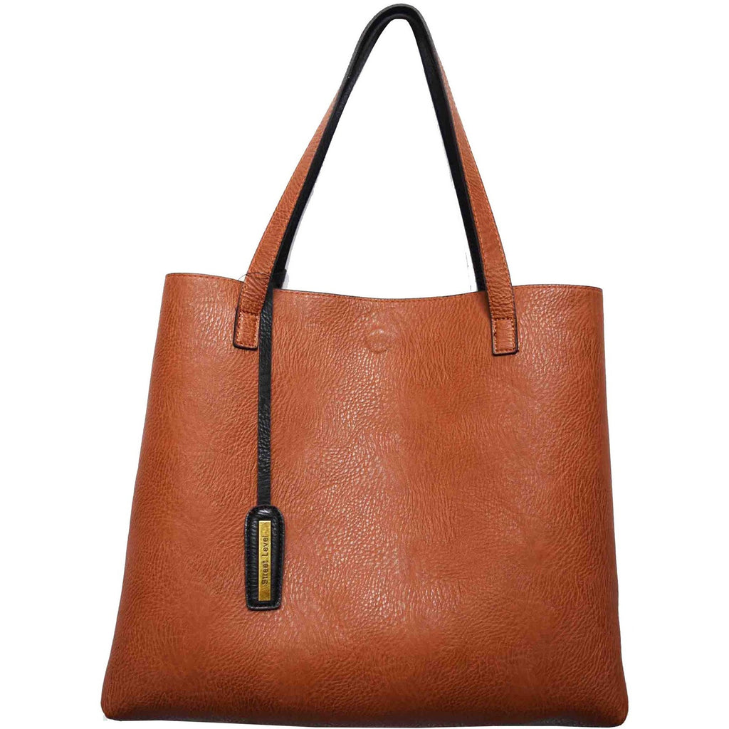 vegan cruelty free bag handbag tote Street Level brown black Australia