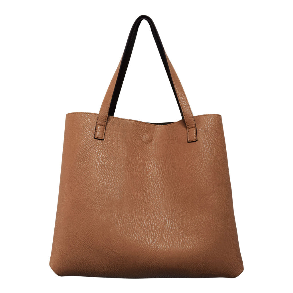 Street Level Vegan Tote Bag Olive/Nude