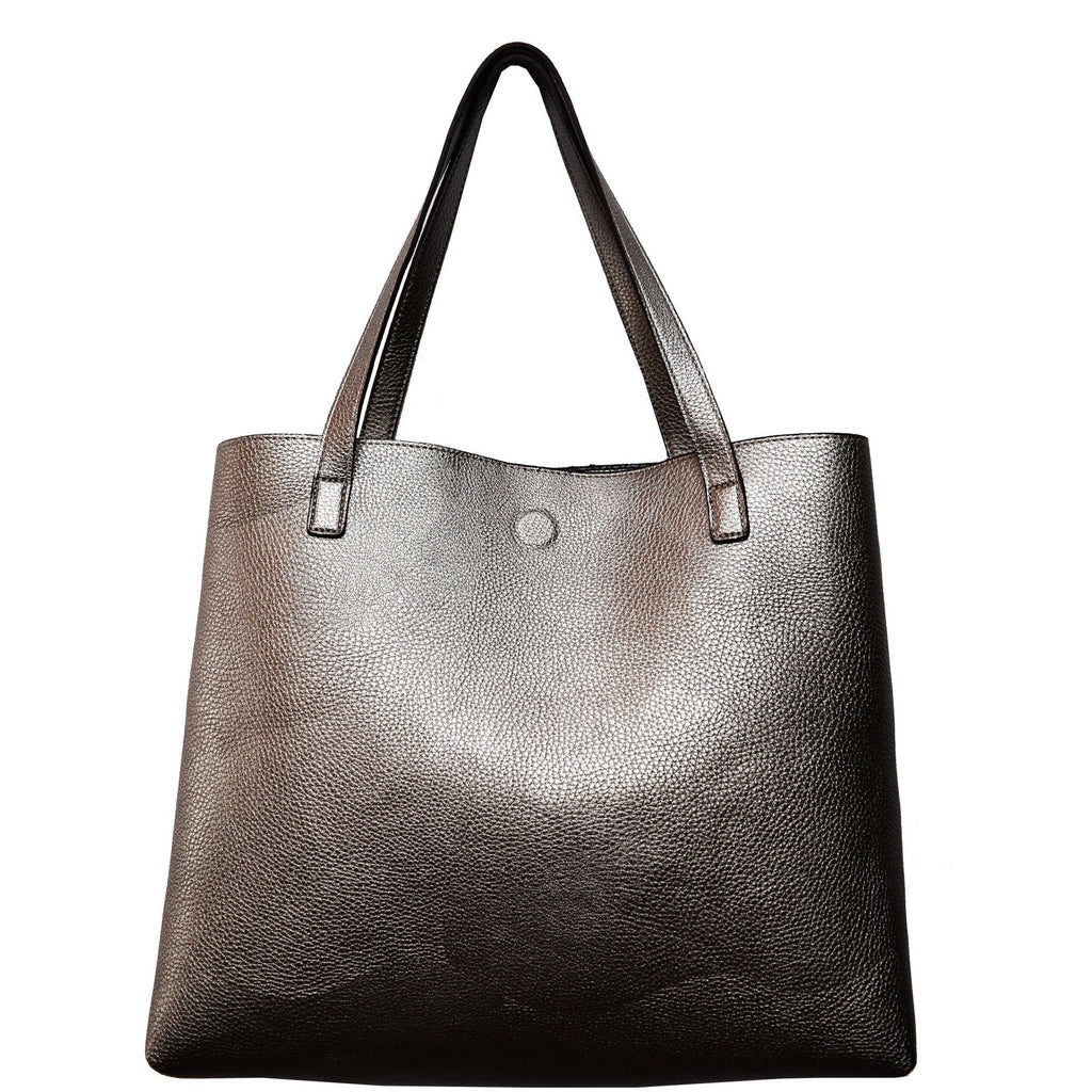 vegan cruelty free bag handbag tote Street Level pewter ombre Australia