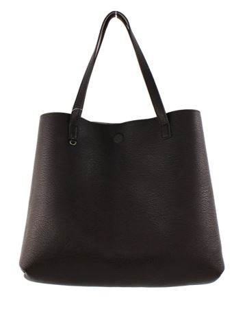 Street Level Vegan Tote Bag Taupe/Choco