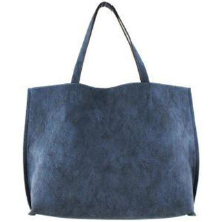 Street Level Vegan Tote Bag Blue/Steel