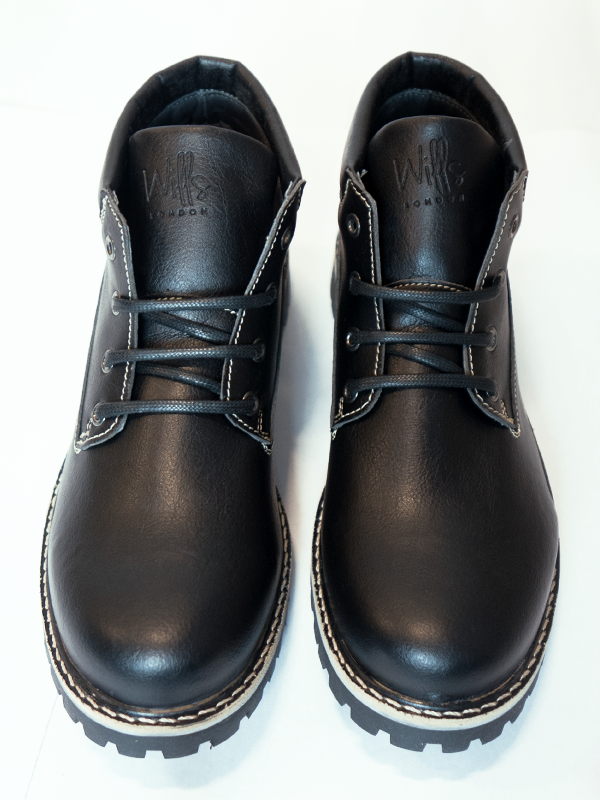 Will's Vegan Ankle Dock Boots Black