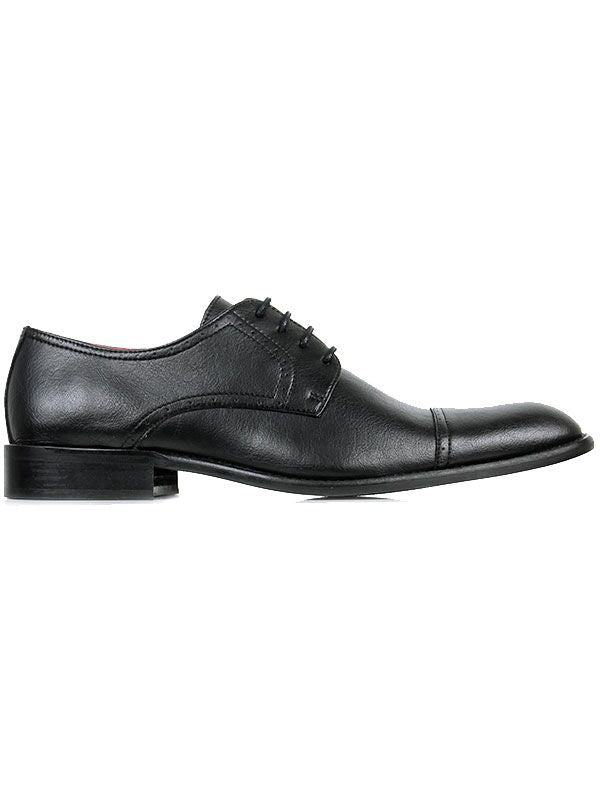 Will's Vegan Shoes City Derbys Black (Wide Fit)