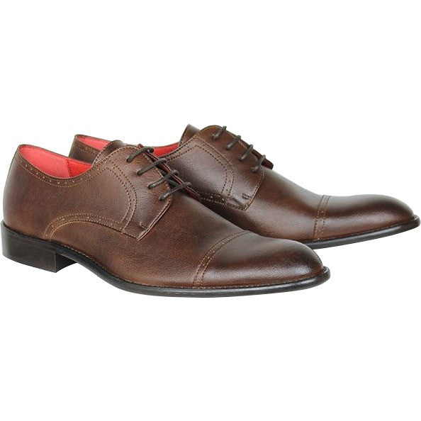 Will's Vegan Shoes City Derbys Chestnut (Wide Fit)