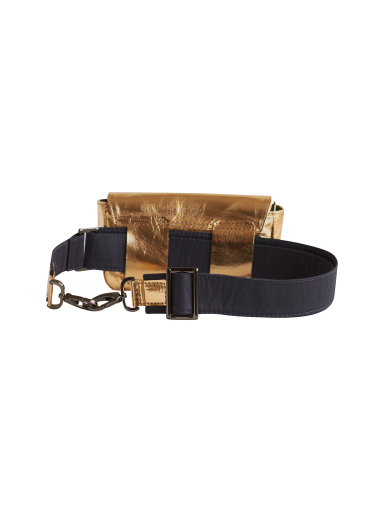 L'autre Sac Louise Convertible Belt Bag Gold