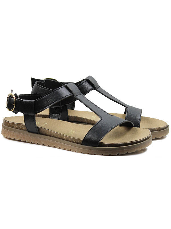 Will's Wills vegan sandals shoes Footbed black Australia