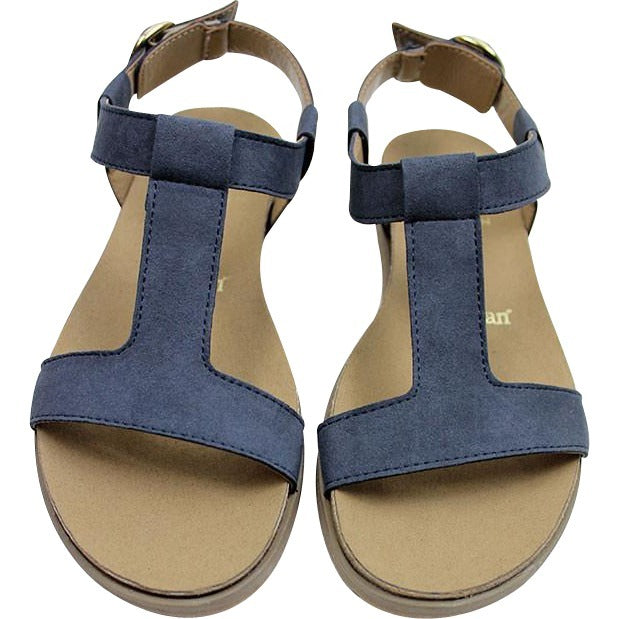 Will's Wills vegan sandals shoes Footbed cobalt