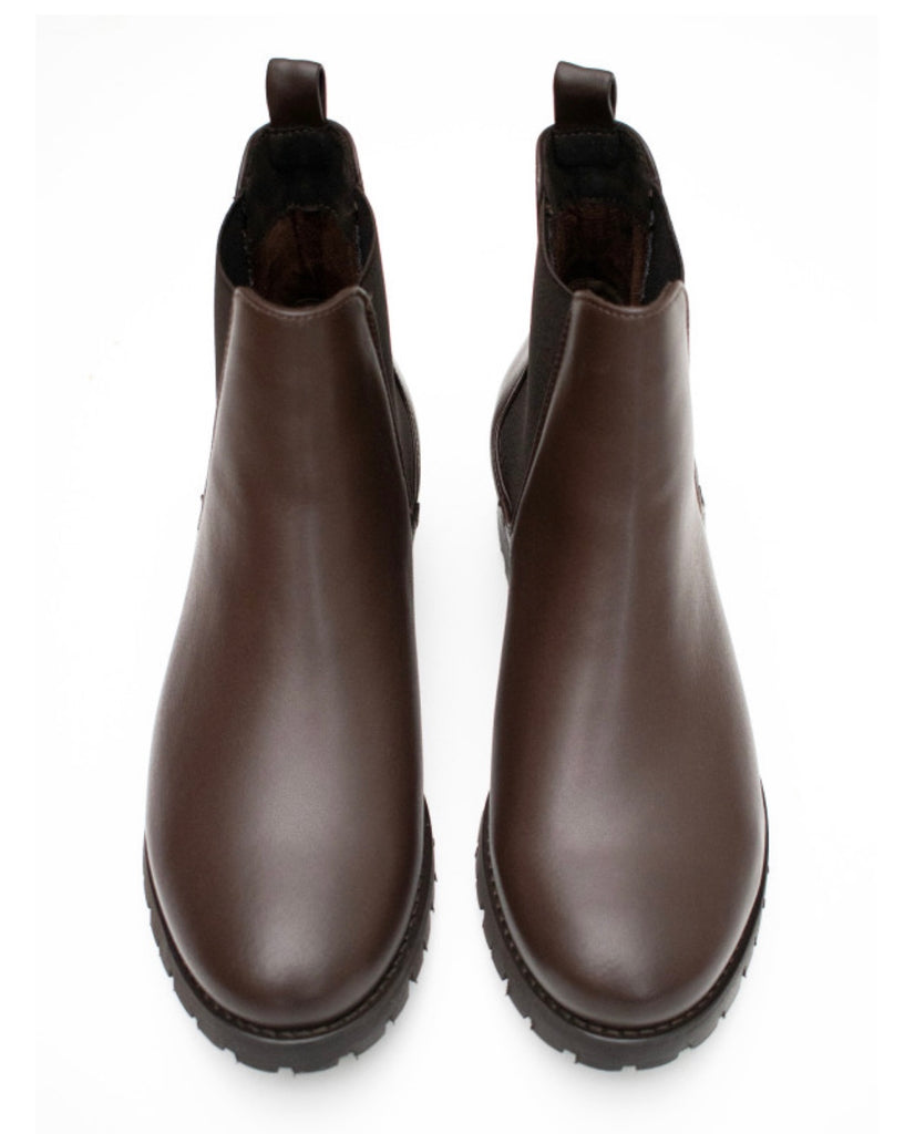 Will's Vegan Luxe Deep Tread Chelsea Boot Dark Brown