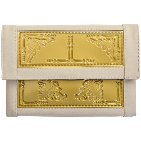 vegan bag handbag MeDusa envelope clutch beige gold Australia