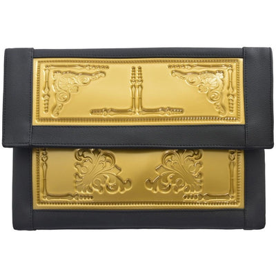 vegan bag handbag MeDusa envelope clutch black gold Australia