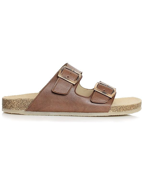 Will's Vegan Footbed Sandals Chestnut