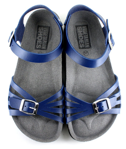 Vegetarian Shoes Paros Sandals Blue