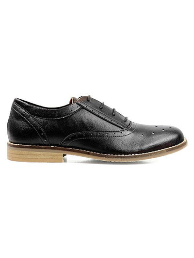 Will's vegan Perforated Oxfords shoes black Australia