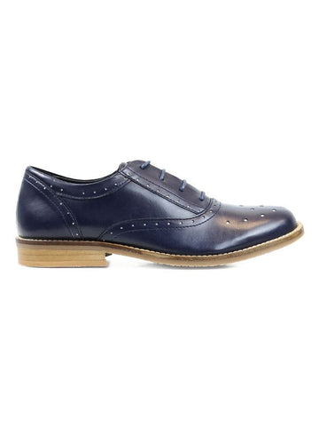 Will's vegan Perforated Oxfords shoes navy blue