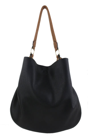 Street Level Slouch Tote Black