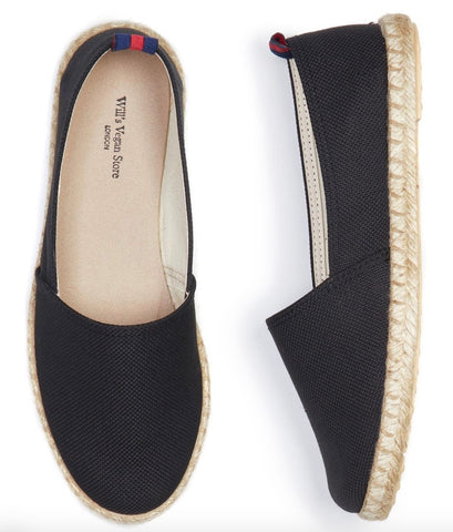 Will's Vegan Recycled Espadrilles Black