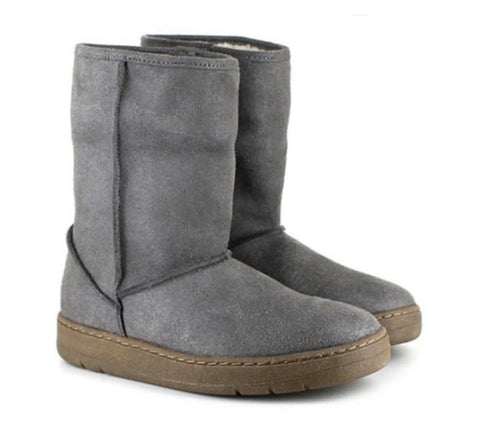 Vegetarian Shoes Snug Boot Grey