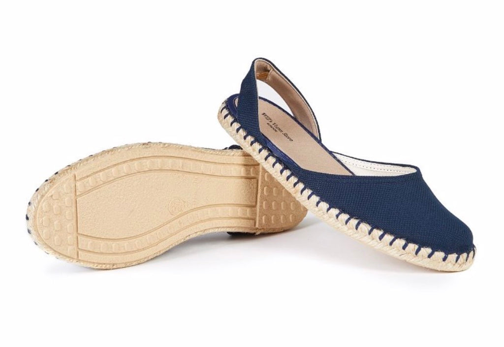 Will's Vegan Recycled Espadrilles Slingbacks navy