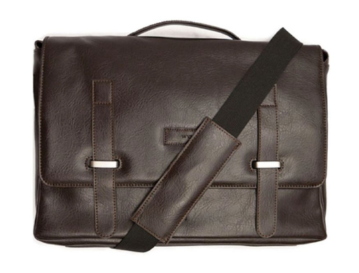 Will's Vegan Messenger Bag Dark Brown
