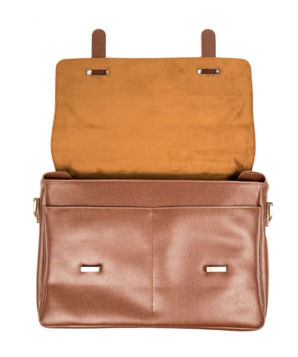 Will's Vegan Messenger Bag Chestnut