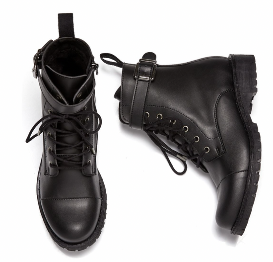 Will's Vegan Buckled Work Boot Black