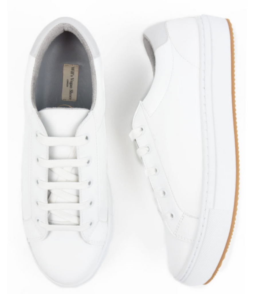 Will's Vegan Shoes New York Trainers White