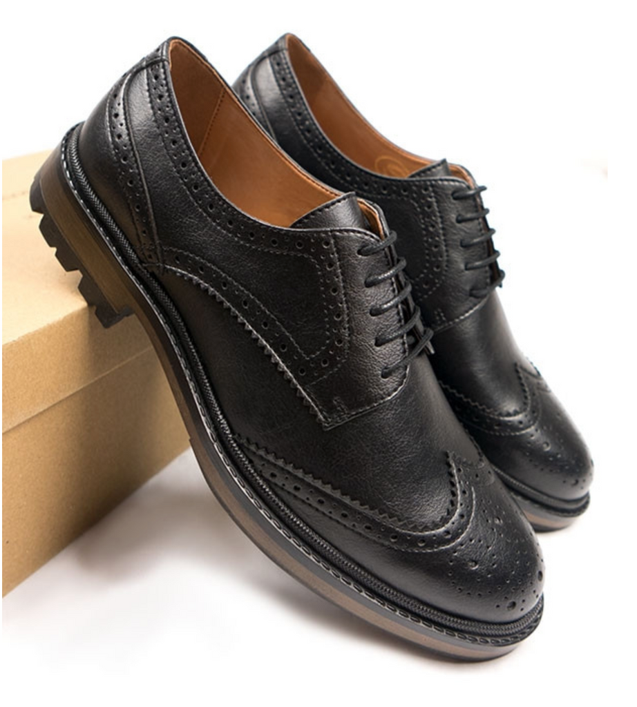 Will's Vegan Shoes Continental Brogues Black size EU 42 - sale