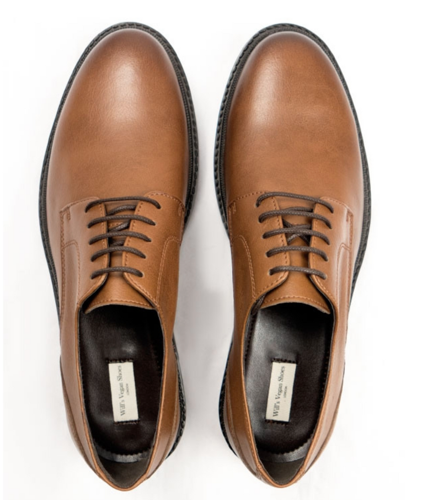 Will's Vegan Shoes Continental Derbys Tan