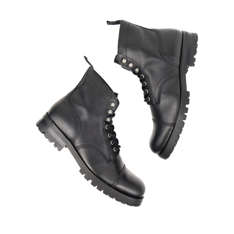 Will's Vegan Work Boots Black, mens vegan boots