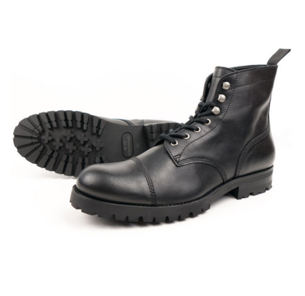 Will's Vegan Work Boots Black, buy vegan boots Australia