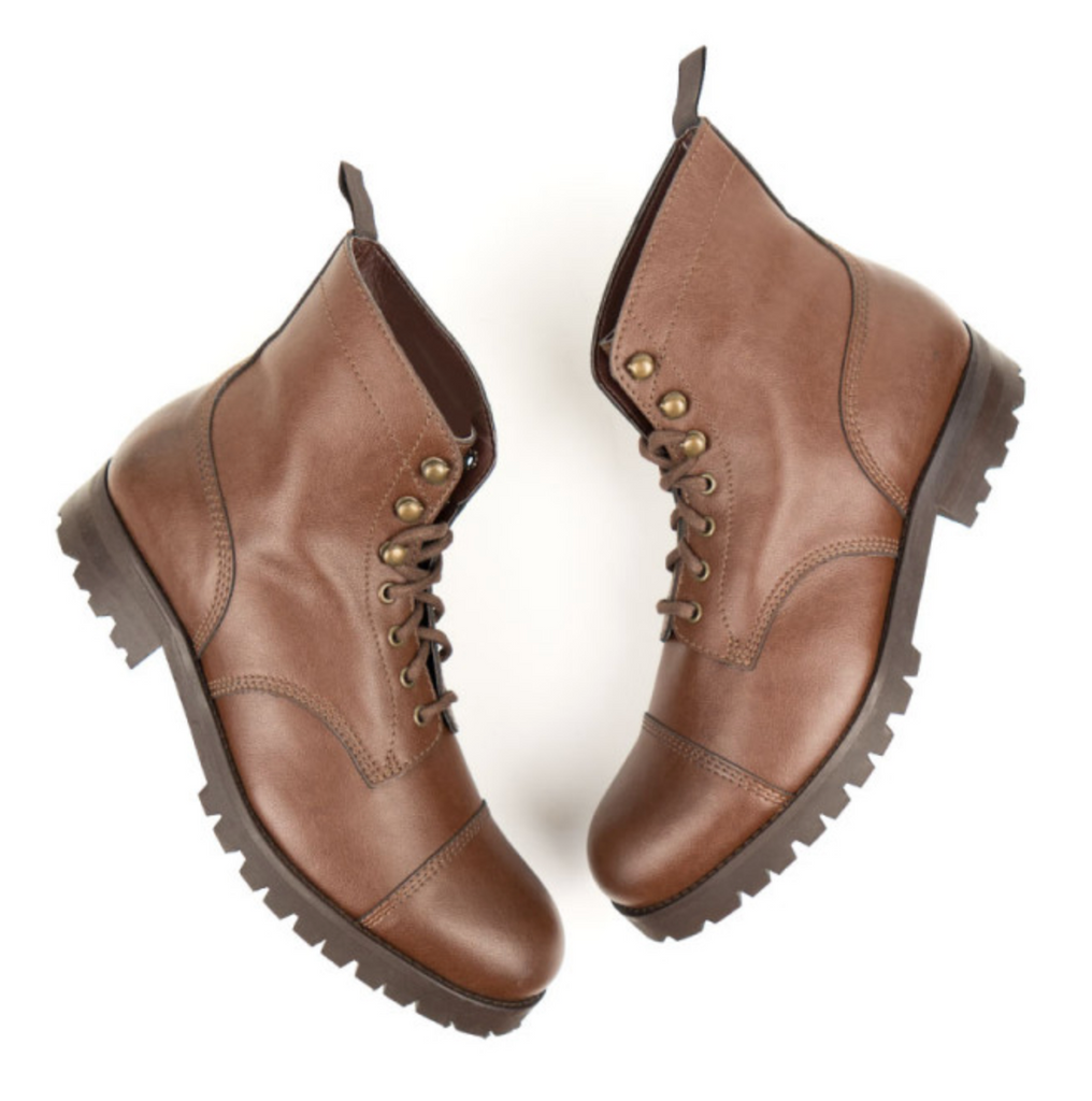 Will's Vegan Work Boots Chestnut